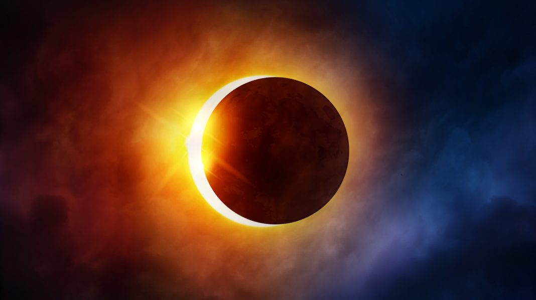 eclipsă parțială de Soare 15 februarie conectare cu perspectiva de ansamblu